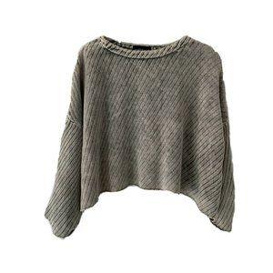 Mustard Seed Acid Wash Dolman Sleeve Sweater